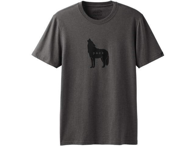 Prana Wolf Pack Journeyman Camiseta Manga Corta Hombre, gris